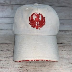 Ruger Firearms Womens  White Pink Baseball Cap Hat